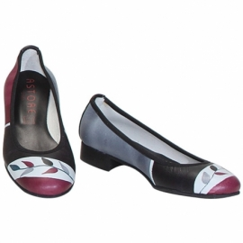 ACQUERELLO WINE RAMO BALLERINA PUMPS