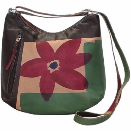 ACQUERELLO MARRONE FIORE HANDBAG