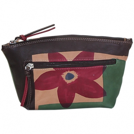 ACQUERELLO MARRONE FIORE SMALL HANDBAG