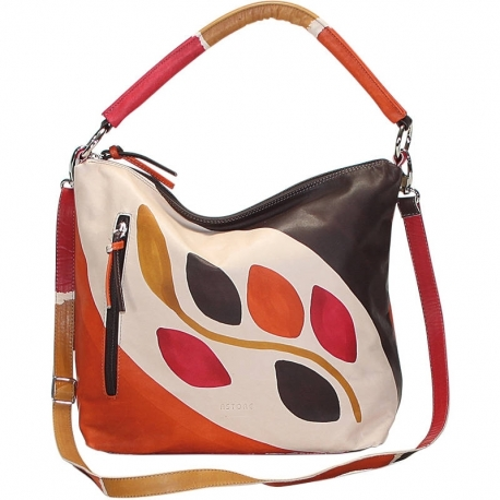 ACQUERELLO BROWN RAMO HANDBAG