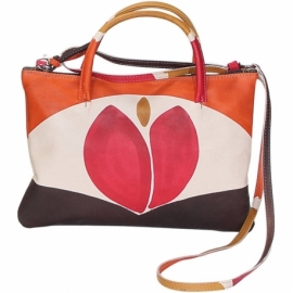 ACQUERELLO BROWN TULIPANO HANDBAG