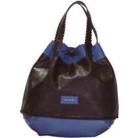 CAMPIELLO BROWN AND BLUE HANDBAG