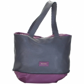 CAMPIELLO GREY AND PURPLE HANDBAG