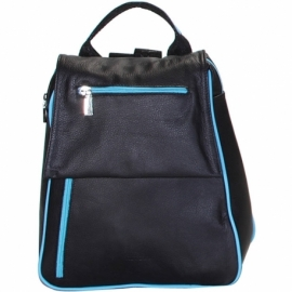 BUSINESS LIGHT BLUE AND BLACK BACKPACK