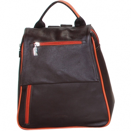 BUSINESS BROWN AND ORANGE BACKPACK