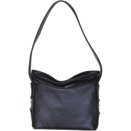 DEA BLACK SHOULDER HANDBAG