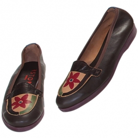 MOCASSINO MARRONE FIORE 2