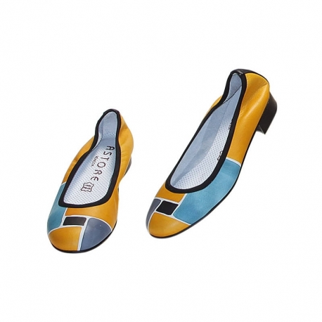 ACQUERELLO SOLE SPIRE BALLERINA PUMPS