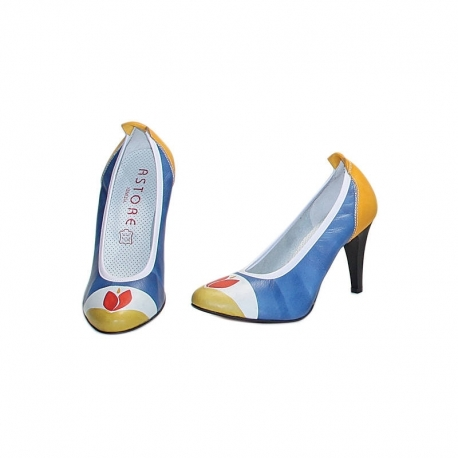 BLUE TULIPANO PUMPS