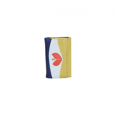 ACQUERELLO BLUE TULIPANO WALLET