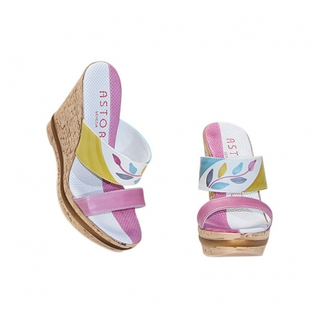 ACQUERELLO ICE RAMO WEDGE SANDALS