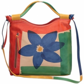 ACQUERELLO NATURALE FIORE HANDBAG