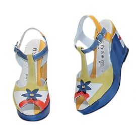SANDALS ACQUERELLO BLUE FIORE