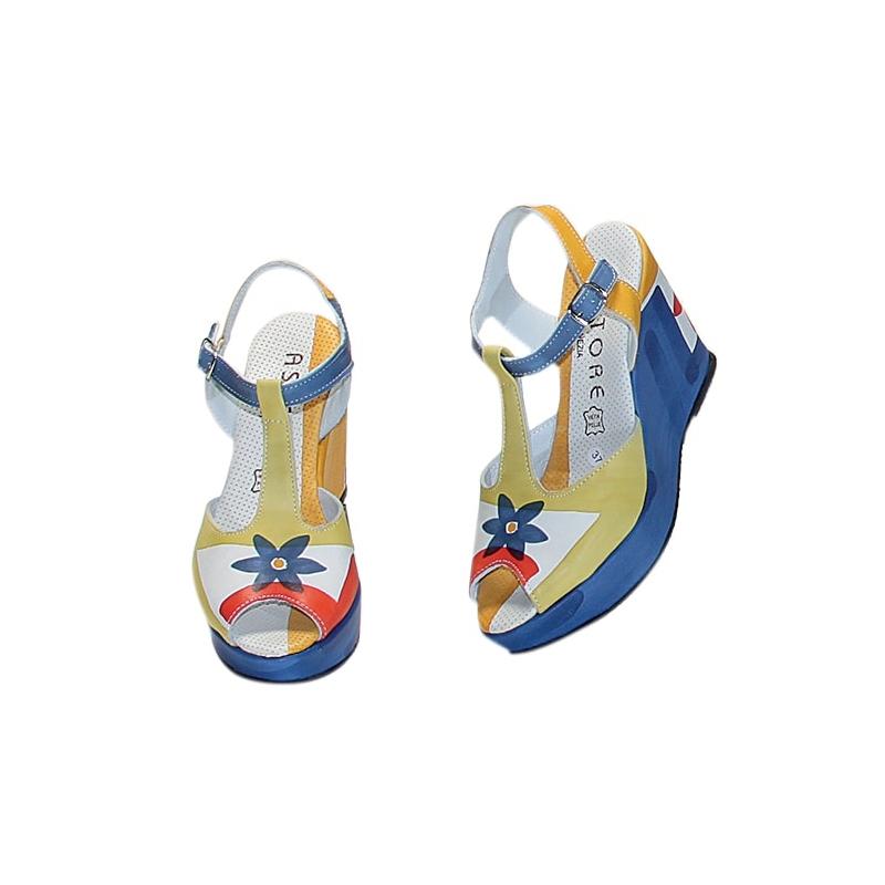 Fiore Sandali Sandali Blu Acquerello Blu Acquerello cRjLq5A34