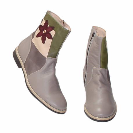 TAUPE FIORE ANKLE BOOTS