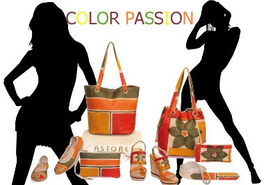 Color leather bags
